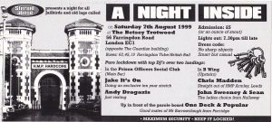 a night inside steroid abuse london club flyer