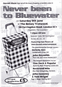 never been to bluewater - steroid abuse the club flyer