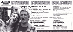 steroid abuse london club flyer