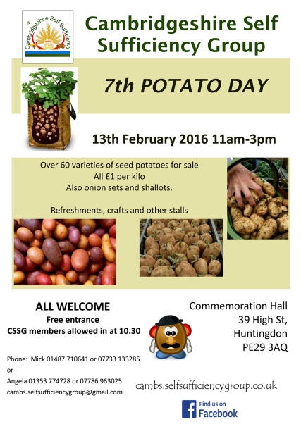 CSSG Potato day 2016